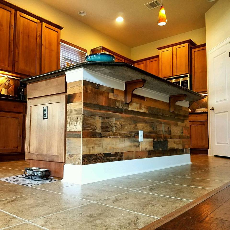 Reclaimed Design Works Softwood Blend Kitchen Island In Austin, TX.
