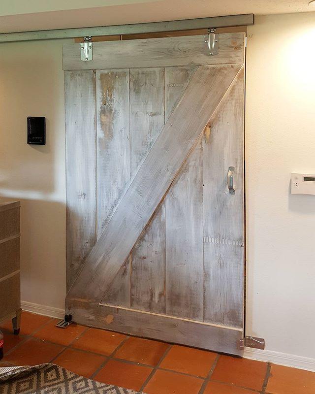 Z Door has been installed! #starchaserwoodworks #interiordesign #srq #sarasota #bradenton #tampa #tampabay #stpetersburg #stpetersburgfl #dtsp #florida #woodworking #barndoor #reclaimedwood #white #artist #handmade #realestate #shabbychic #white #whitewash #local #rusticdecor #rustic #oldwood #recycledwood #woodart #remodel #homedecor #homeimprovement #interior123