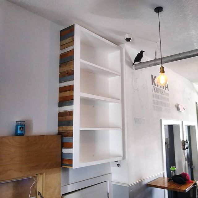 Got some additional storage installed over at @grassrootskava in St. Pete, Fl today. I've been a bit behind on projects so it's nice to get something accomplished! 😂 #starchaserwoodworks #interiordesign #srq #sarasota #bradenton #tampa #tampabay #stpetersburg #stpetersburgfl #dtsp #florida #woodworking #reclaimedwood #artist #handmade #realestate #shabbychic #white #storage #whitewash #local #rusticdecor #rustic #oldwood #recycledwood #woodart #remodel #homeimprovement #interior123