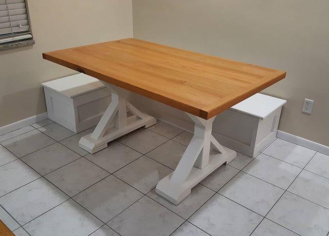 Breakfast nook 2.0. We switched the base of the table to make it more functional. #starchaserwoodworks #interiordesign #srq #sarasota #bradenton #tampa #tampabay #stpetersburg #stpetersburgfl #dtsp #florida #woodworking #tabletop #reclaimedwood #sinkercypress #artist #handmade #realestate #rusticdecor #rustic #oldwood #recycledwood #woodart #remodel #homeimprovement #interior123