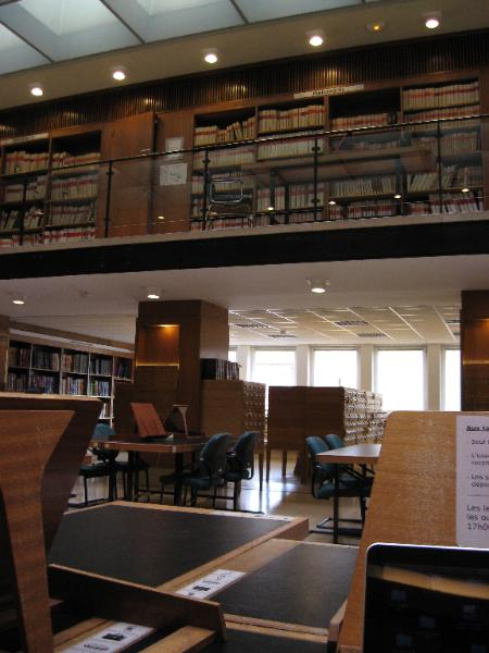 Reading room of the music division of BNF, Paris.