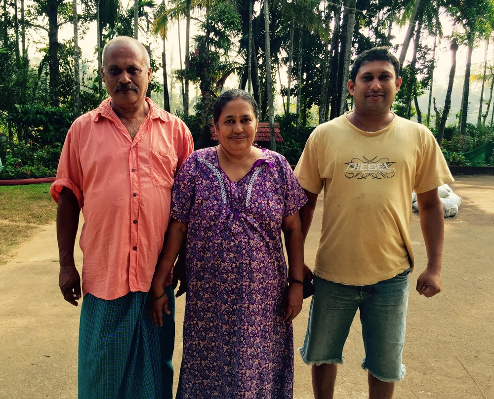 Aditi with his mother and father
