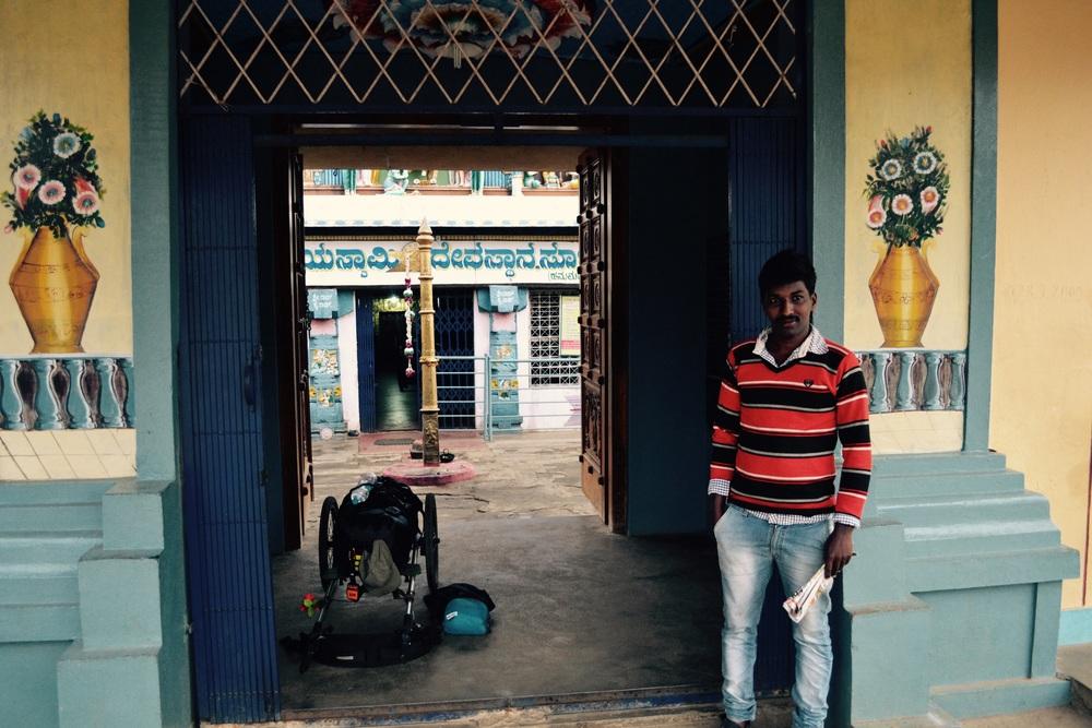 Sunil - outside theHanumanth temple