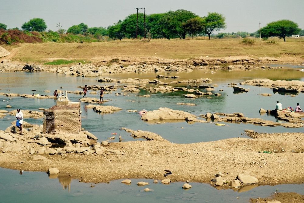Kaveri River: All dried up