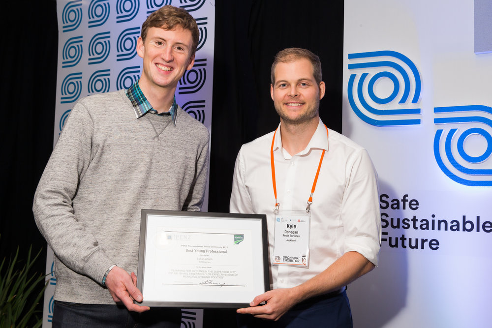 Best YP Paper  - Planning for Cycling in the Dispersed City: Establishing a Hierarchy of Effectiveness of Municipal Cycling Policies        Lukas Adam - MRCagney   PRESENTED BY SPONSOR OF BEST YP PAPER, KYLE DONEGAN, RESIN SURFACES