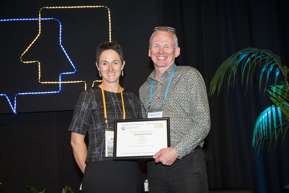 Best Research Paper  sponsored by SIDRA SOLUTIONS  The changing signal faces of cycling   Megan Gregory/Axel Wilke, ViaStrada Ltd