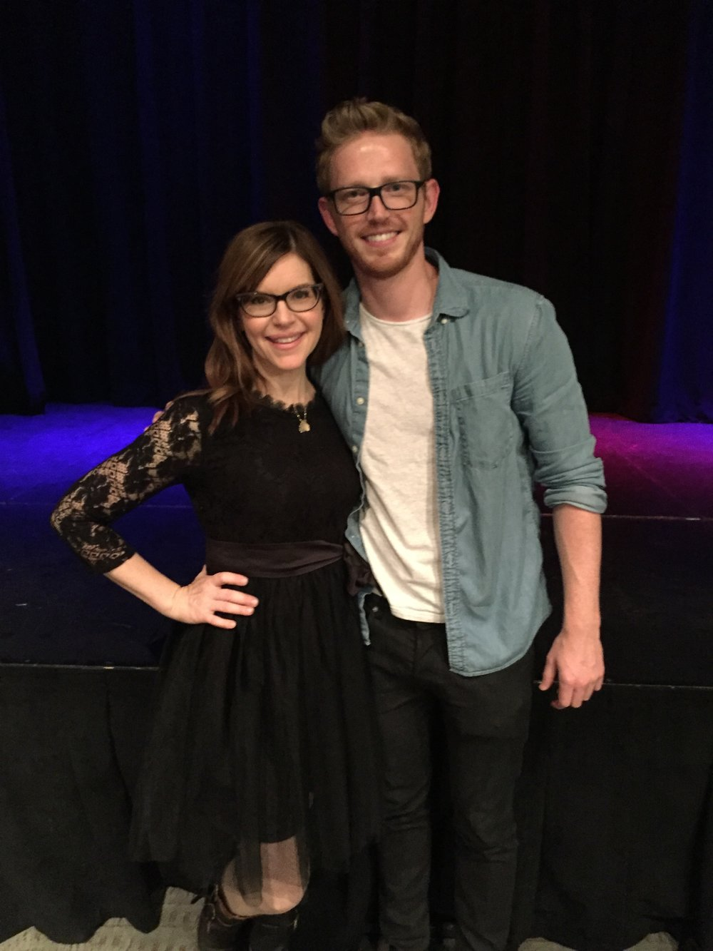 With Lisa Loeb