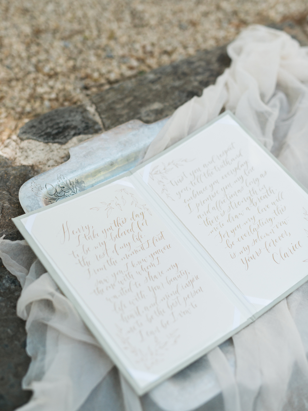 Vow Book - Wedding Story Writer Image - Maggie & Rachel Photography