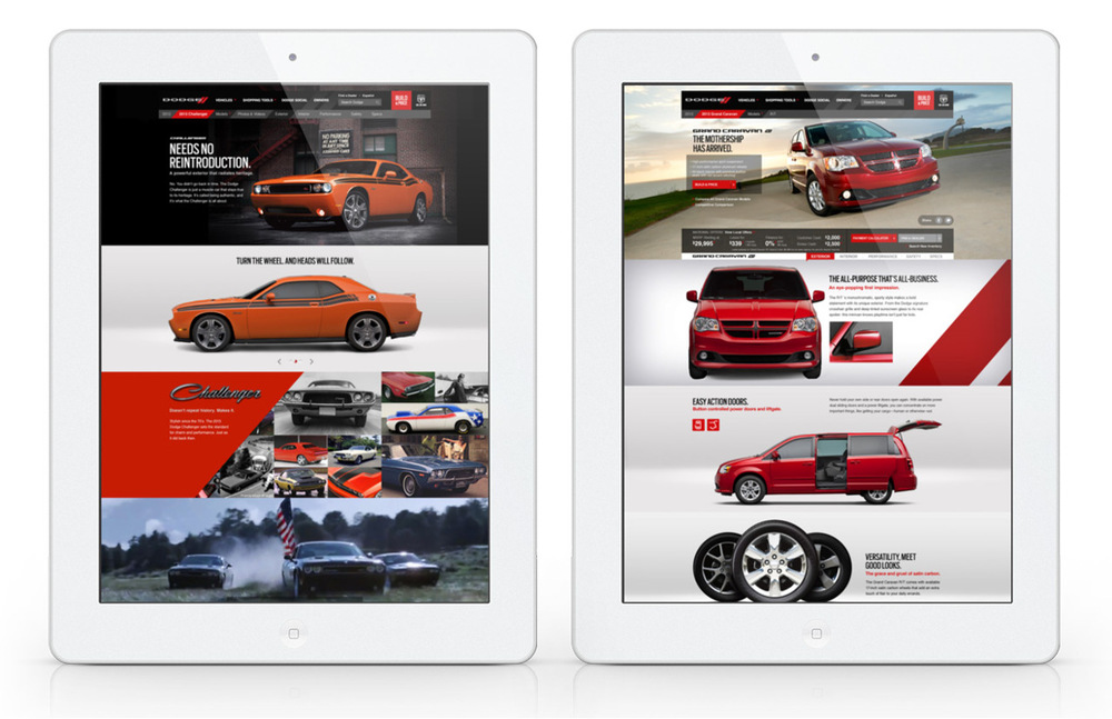 A clean, bold, modern design was key to helping the Dodge brand feel contemporary while setting it apart from the countless automotive websites out there.