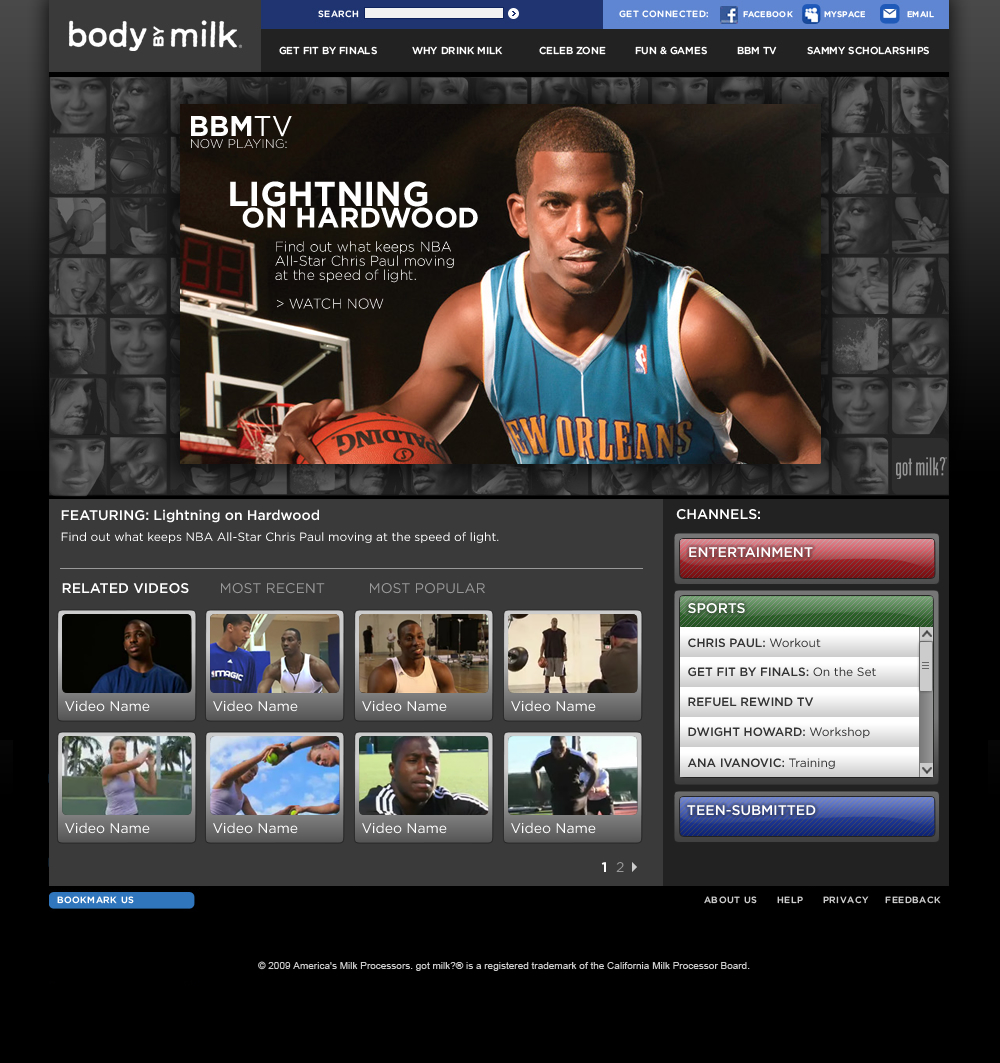 Video Archive Page