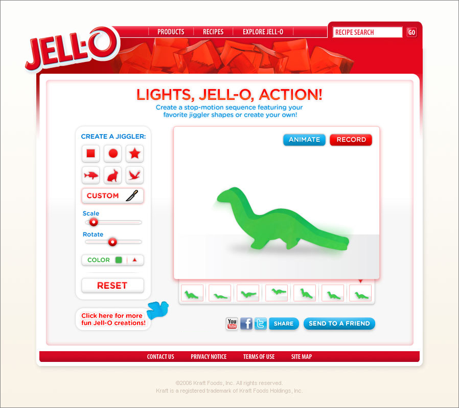 Create and share a Jell-O jiggler movie