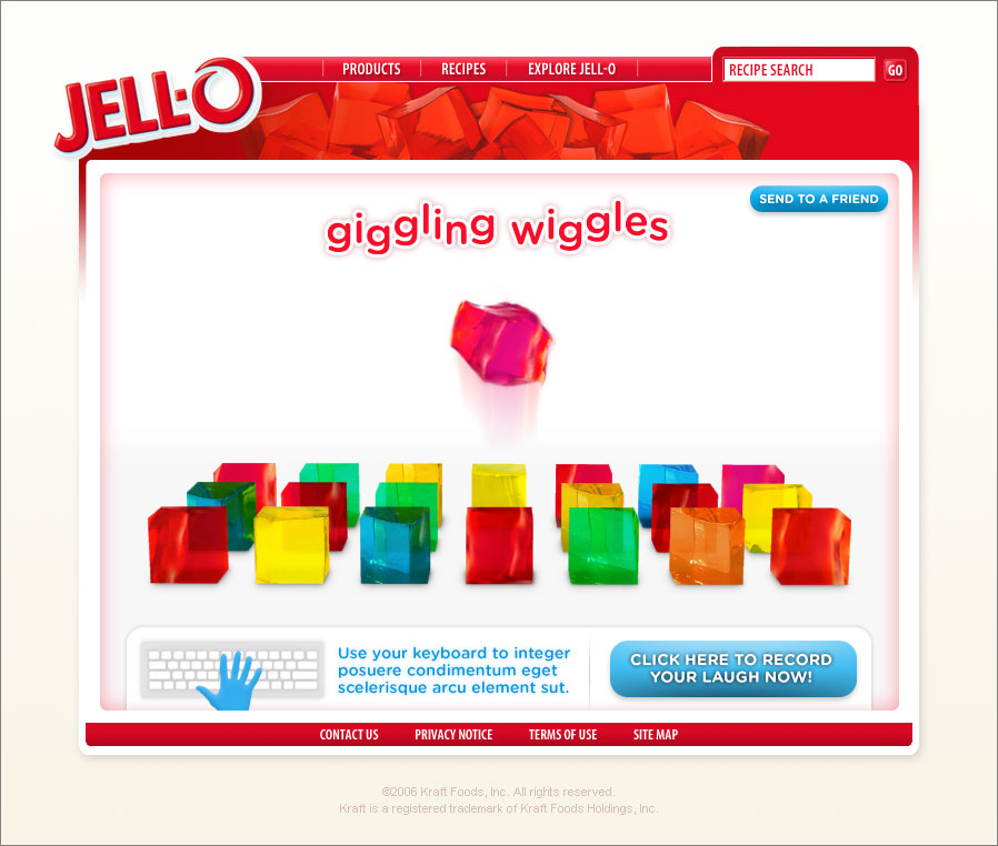 Use your keyboard to create a giggling jiggler melody