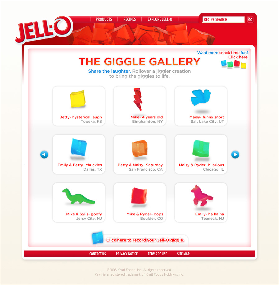 Find your creations in the Giggle Gallery