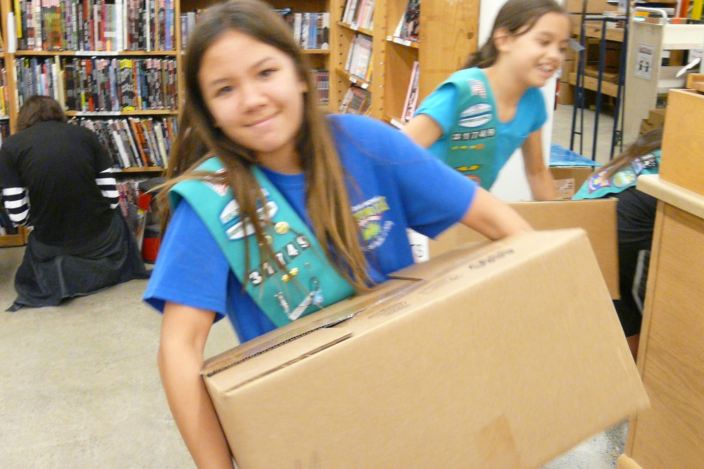 girl scout bronze award project: gathering book donations for a local school