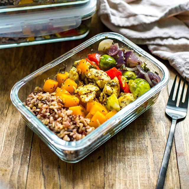 Meal Prep Recipe Chicken And Butternut Squash Harvest Bowls Meal