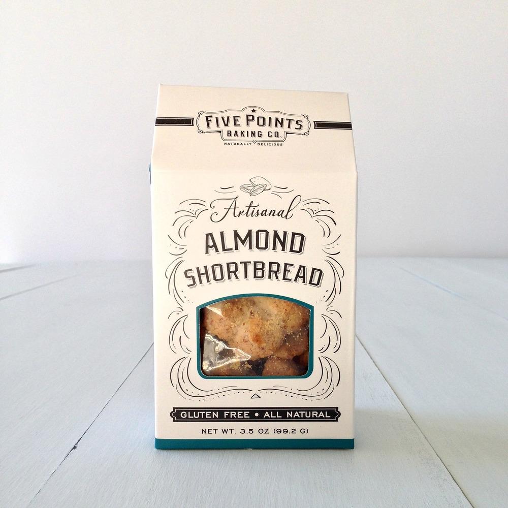FIVE POINTS BAKING CO. ALMOND SHORTBREAD |Flavors:regular, chocolate, pumpkin pie spice