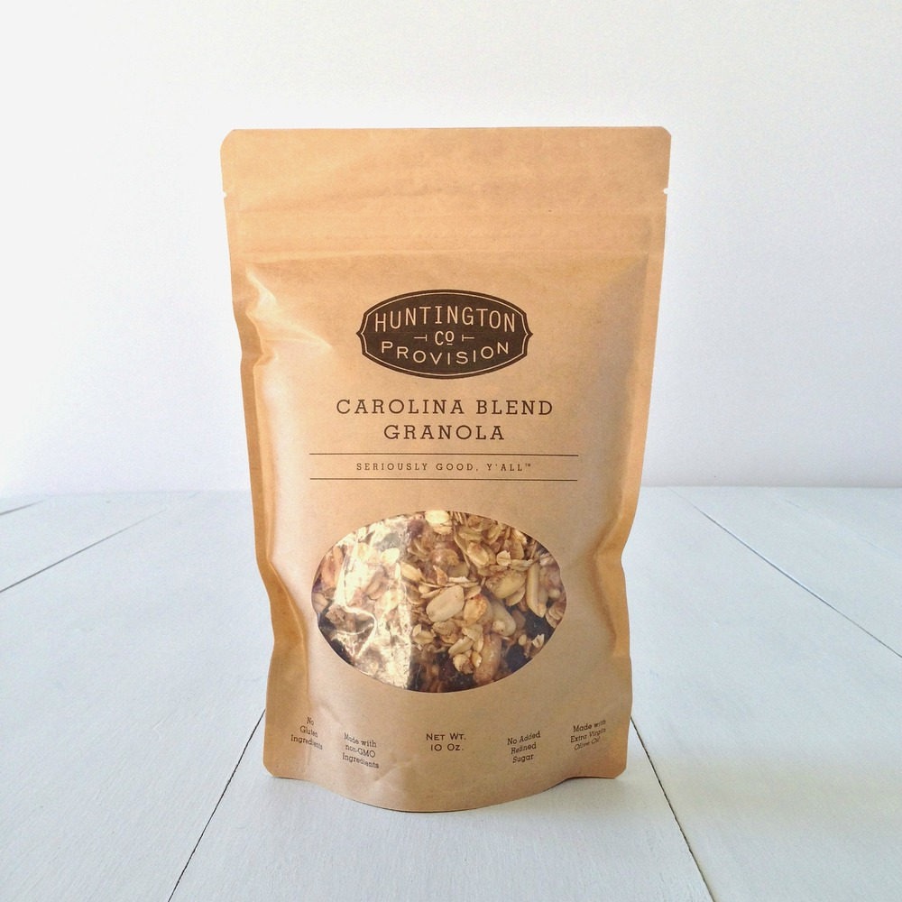 HUNTINGTON PROVISION CO. GRANOLA |Flavors:Carolina Blend, Cherry Goji Jubilee, Southern Hummingbird, Maine Maple Blueberry, Strawberry Banana