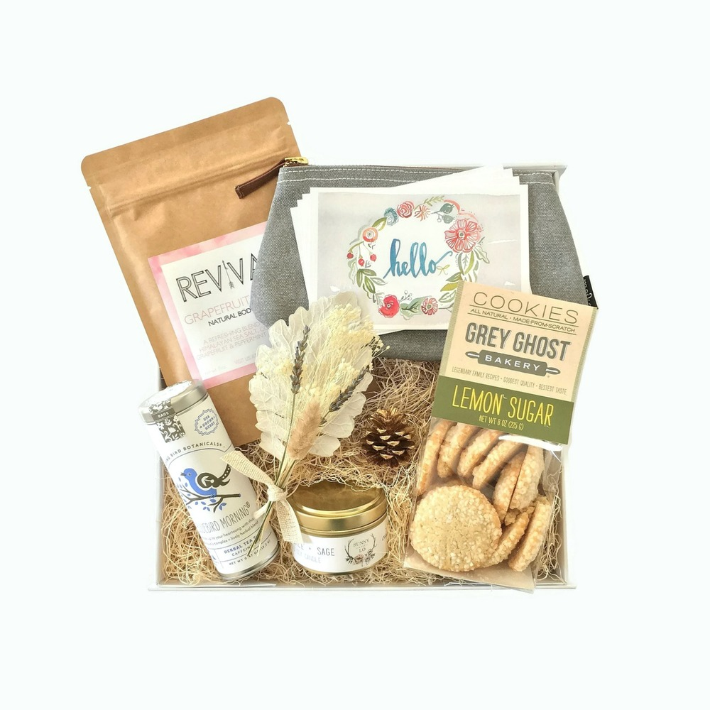 Each artisanal item in the Day Brightener Gift Box has been hand-selected to be a source of encouragement, energy, and genuine delight.