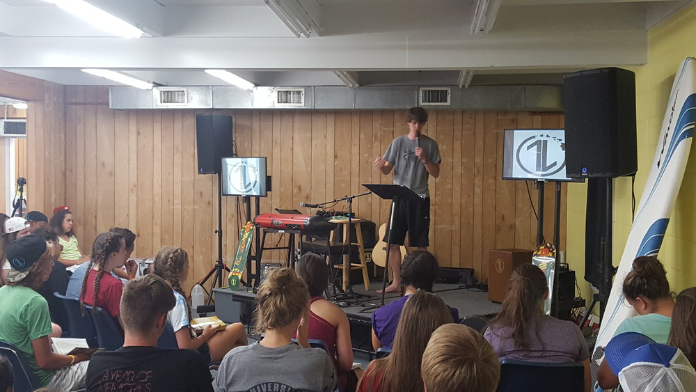 @The_Kenny_Hall sharing about the #1L of Jesus at Youth Camp last week.