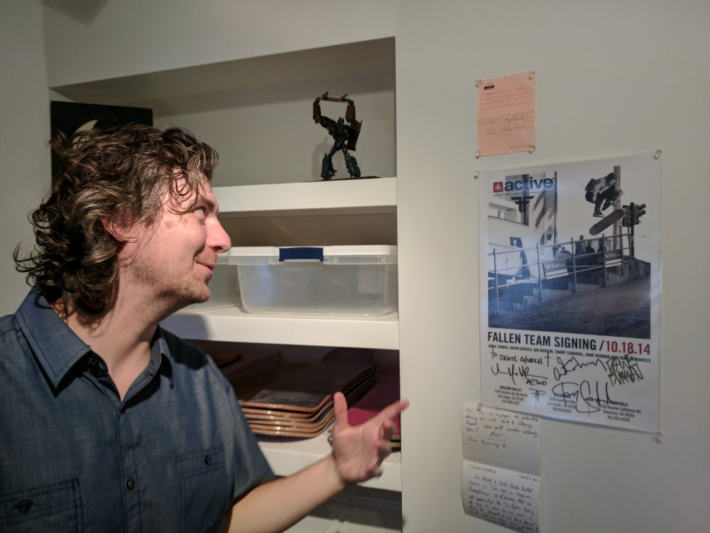 """Tim Byrne showing Tony Hawk's """"Release of Liability"""" from 1992 at Skate Church.  Awesome to see how many people have been impacted by this faithful Portland ministry since """"Pastor Paul"""" & the OG skate church guys began in 1987. More info on skatechurch.net"""