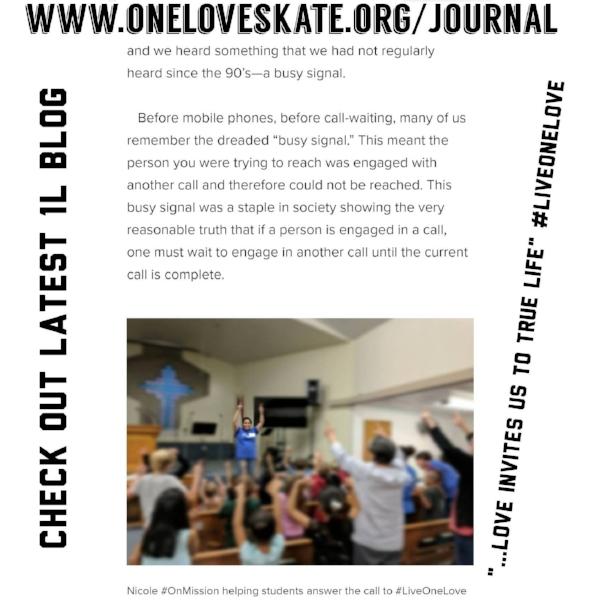 Excerpt From Last Week's Blog www.oneloveskate.org/journal