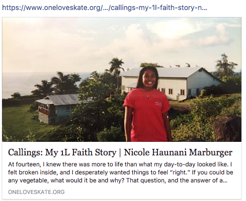 Thanks for lifting up our Monday3. Today's picture is from the recent blog Nicole posted.  https://www.oneloveskate.org/journal/2017/11/13/callings-my-1l-faith-story-nicole-haunani-marburger