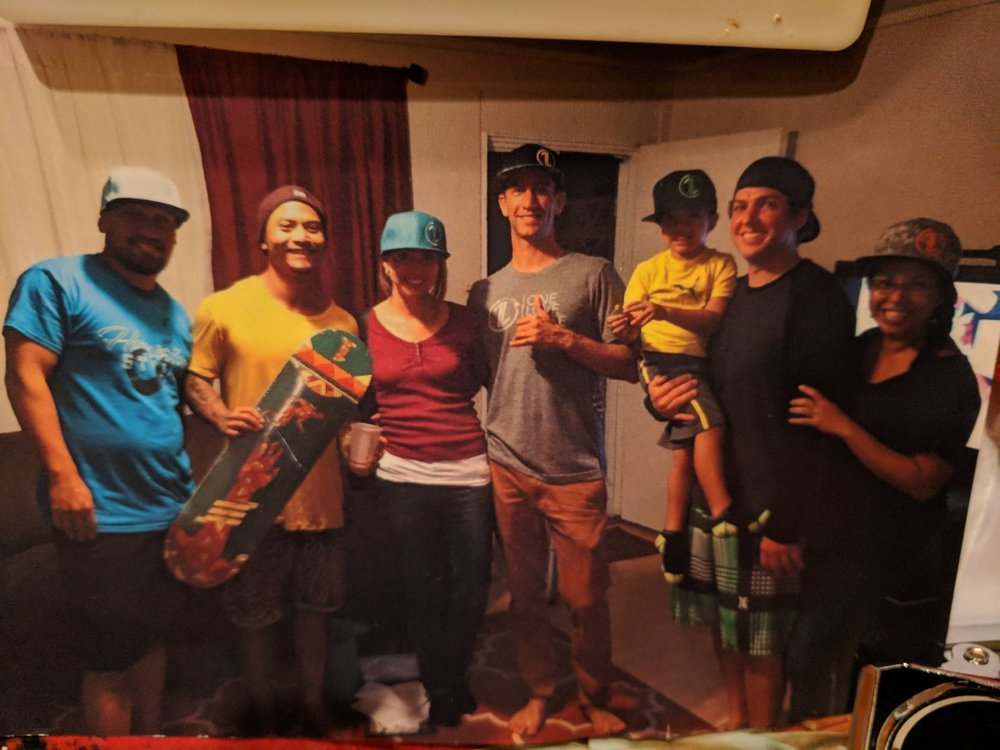 """Picture from first ever """"One Love Skate"""" 501c3 Board of Directors meeting on November 24, 2015 in Pukalani, Maui. In March of this year, Lahaina Baptist graciously hosted our Board of Directors in their """"One Love Room"""" at Lahaina Baptist Church, and we are so thankful to see the ministry grow as we train #OneLoveSkate soldiers to """"Live the One Love of Jesus."""""""