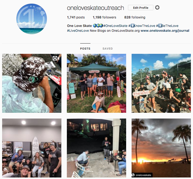Screenshot of 6 recent pictures from @oneloveskateoutreach instagram. These are all from the last two days. Video & more media to come on a oneloveskate.org blog soon.