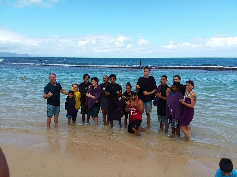 #ShoulderToShoulder with Pastor Shaun & Pastor Kaipo. Waipuna's Baptism Monday at Baby Beach was worth moving back to Maui! Here's a picture taken after Waipuna's New Year's Day Baptism! Praise God for HIs Work and the way He is using His local church #ShoulderToShoulder with the ministry of 1L!