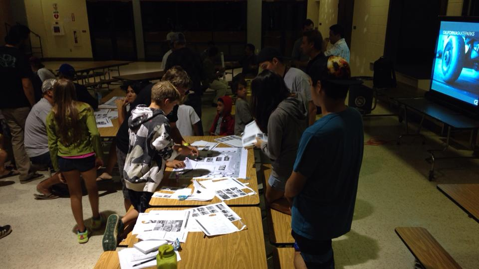 April 2015 - One of several Pukalani meetings for the new skatepark. Thanks all who worked #ShoulderToShoulder to help this happen!