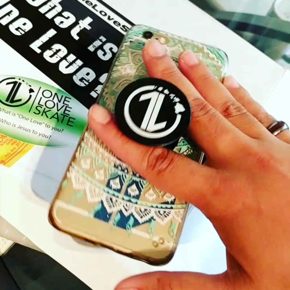 """Stoked to have a new conversation tool with """"1L Popsockets."""" What is one love to you?"""