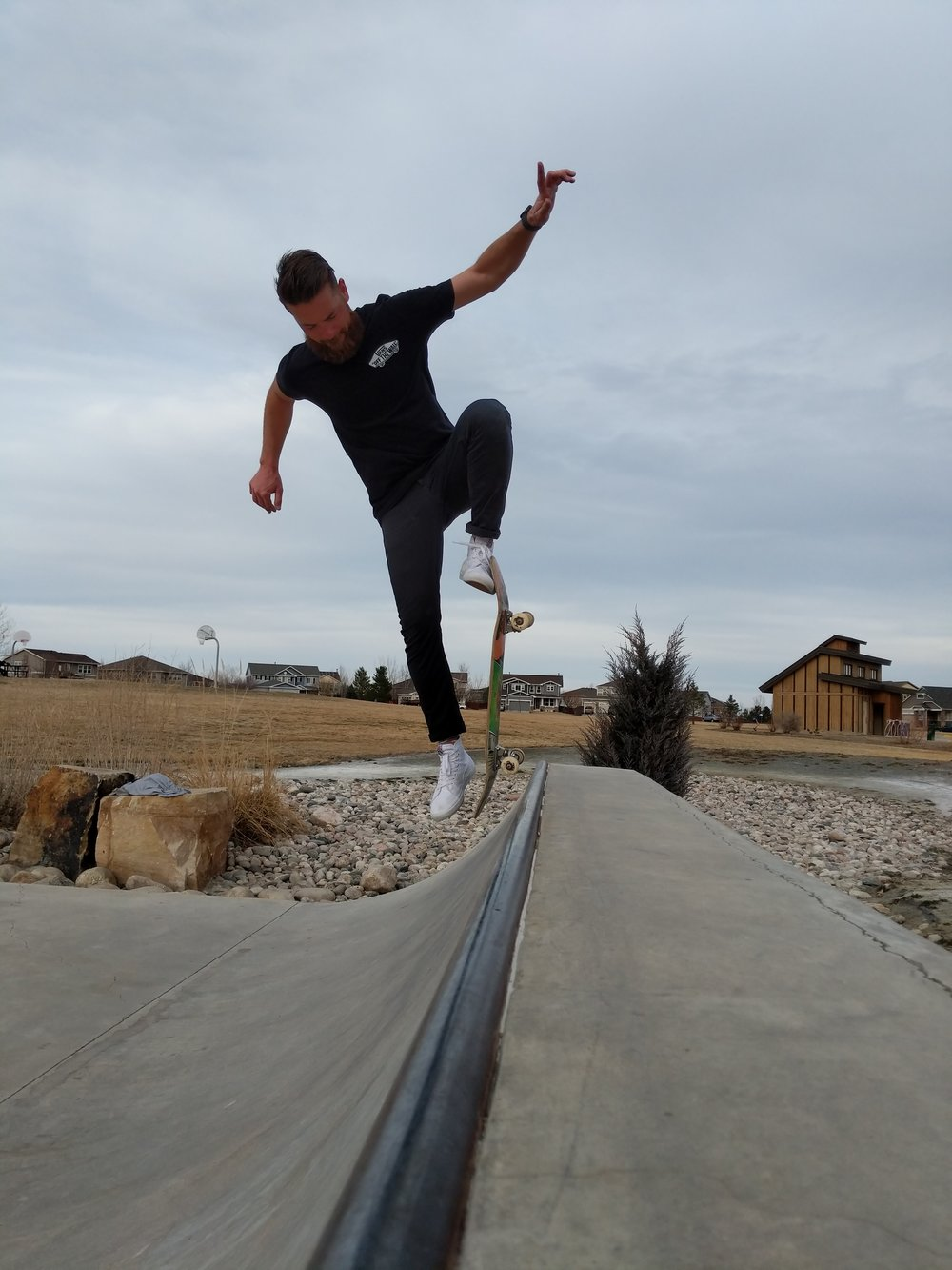 Stoked to see this inspirational moment of Mark fully committed to his blunt in Fort Collins, Colorado last Wednesday.