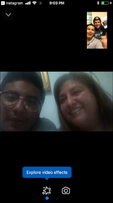 Video Chat Saturday night with Auburn (1L Wyoming) and Christian (1L Honduras) before the #OneLoveSkate event in Honduras at the skatepark Sunday.