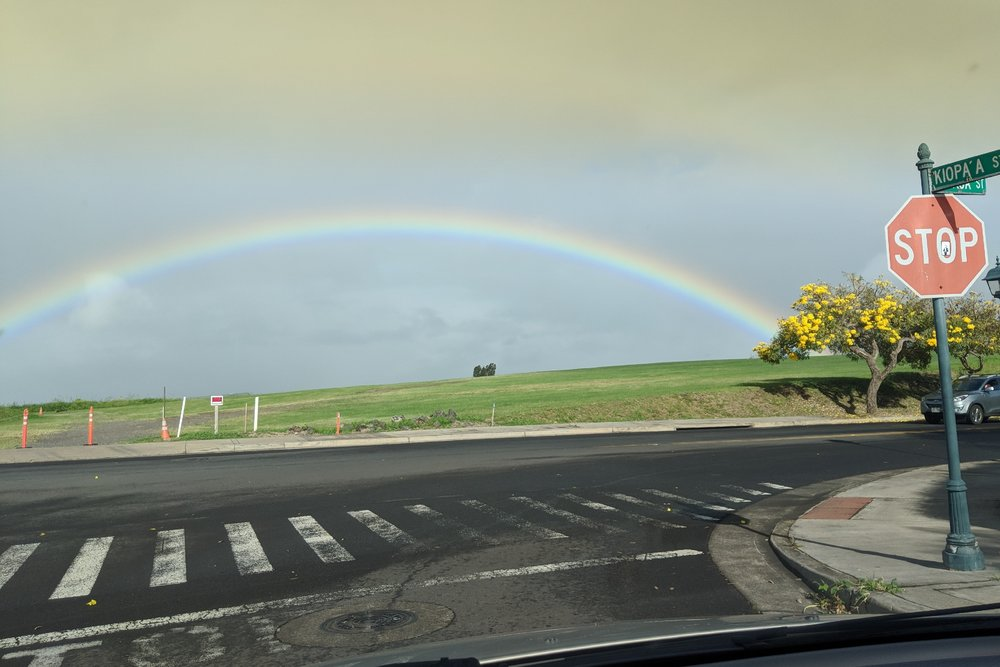 Lots of rain lately on Maui, but this rainbow was amazing last week. Rain or shine, #LiveOneLove