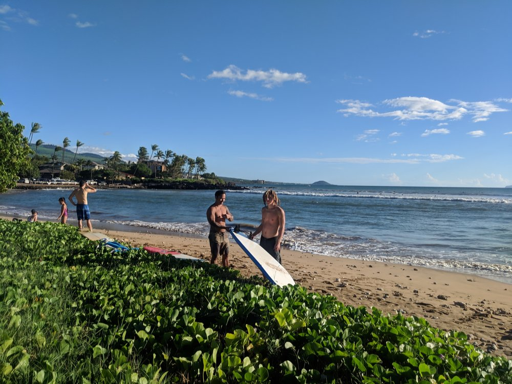 #DiscipleCycles Saturday as Sam P. teaches Brody about surf etiquette