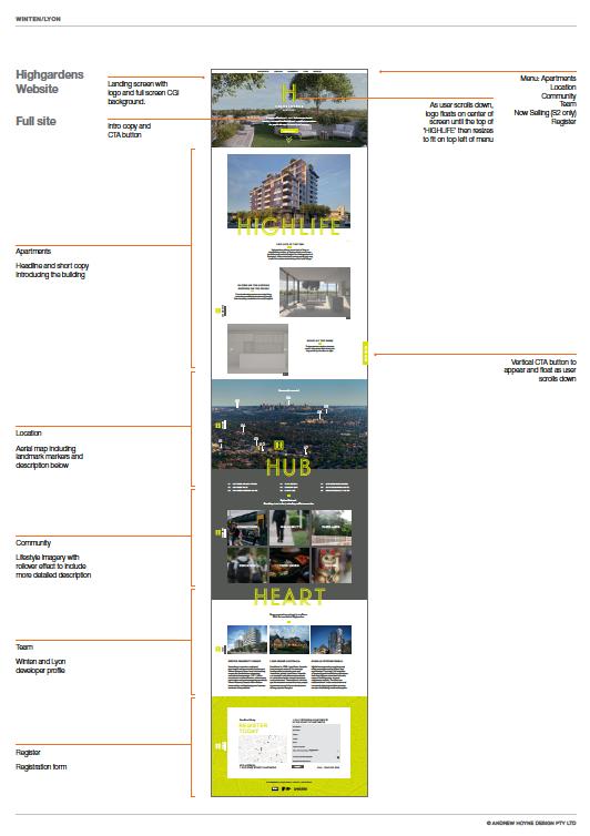 (Above: Website landing page design)