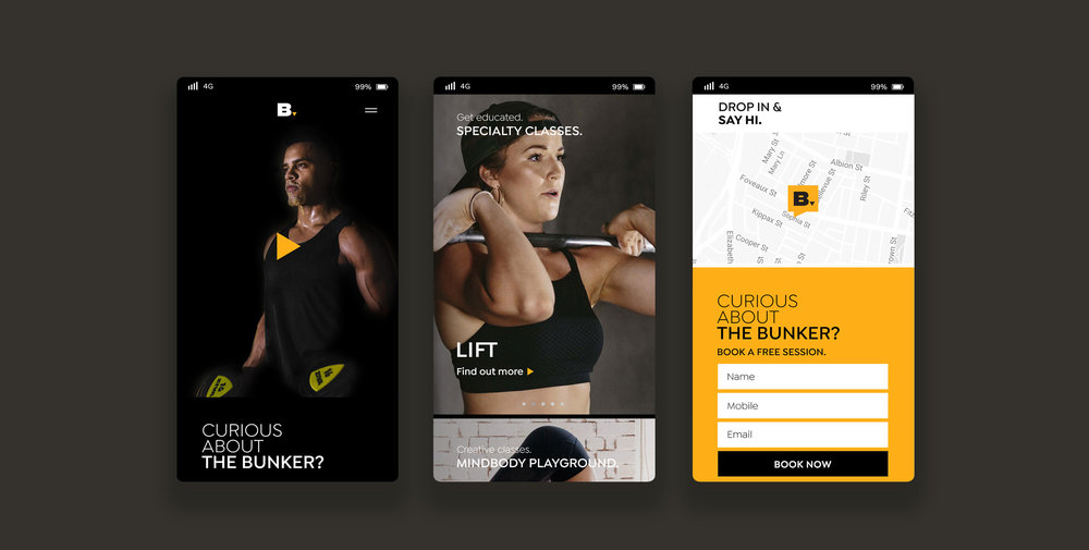Mobile landing page designed by Alice Lo and Suharyanto Putra