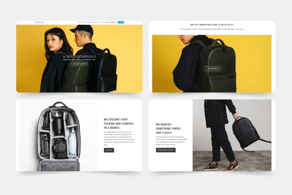 www.nomoreugly.com.au - Desktop homepage design.