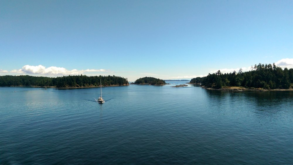 Passing small Island during the Ferry Crossing on our Vancouver Island tour