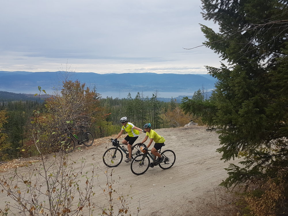 Multiday bike tour at Myra Canyon cycling the KVR trail