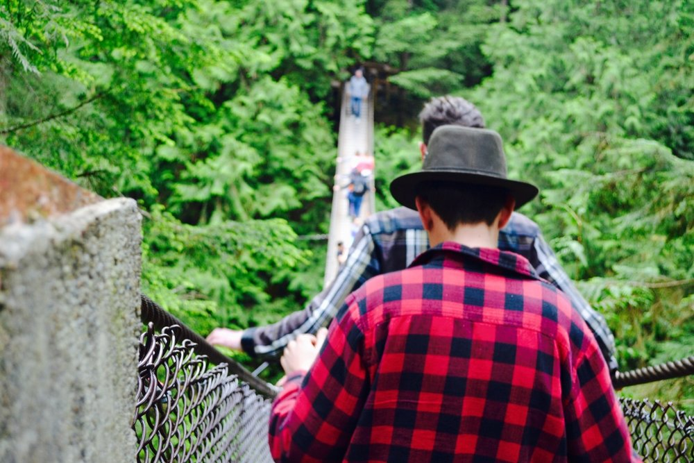 Lynn Canyon Suspension Bridge in Vancouver during our one day bike and hike tour