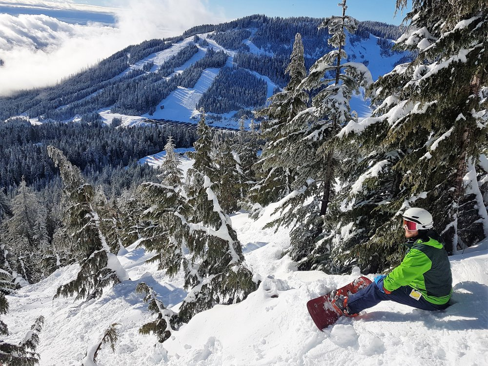 Cypress Mountain has some top class tree runs to keep even expert riders on their toes!