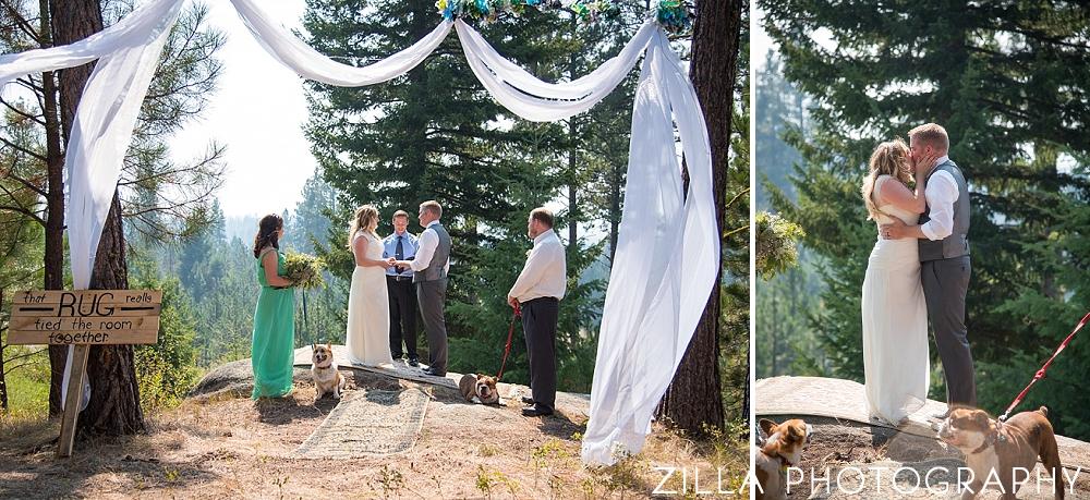 Outdoor-Woods-Idaho-Wedding-Ceremony