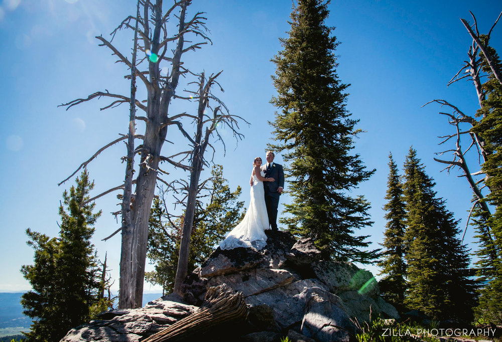 A wedding at brundage mountain - second shooting for two bird studio