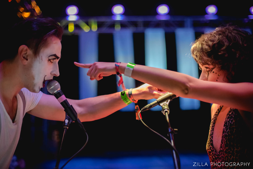 LED performing at boise's treefort music festival 2016