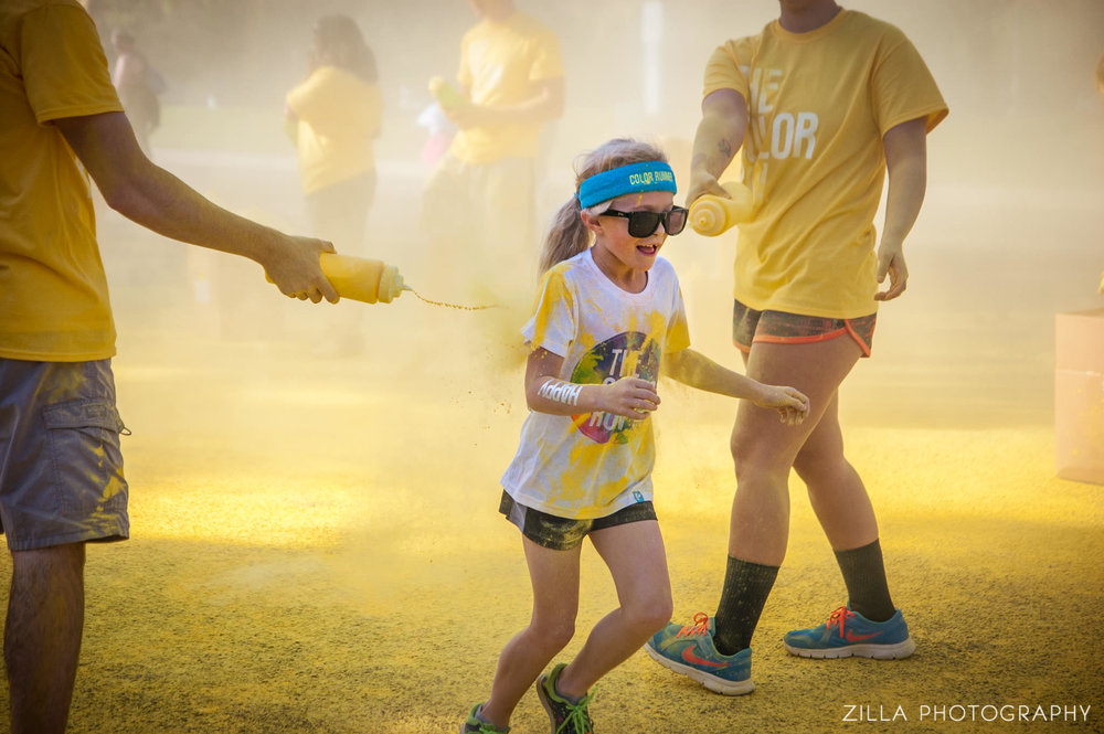 all the yellow at the color run in boise - shot for thisisboise.com