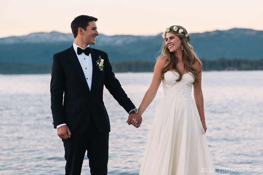 newly married on payette lake - second shot from two bird studio