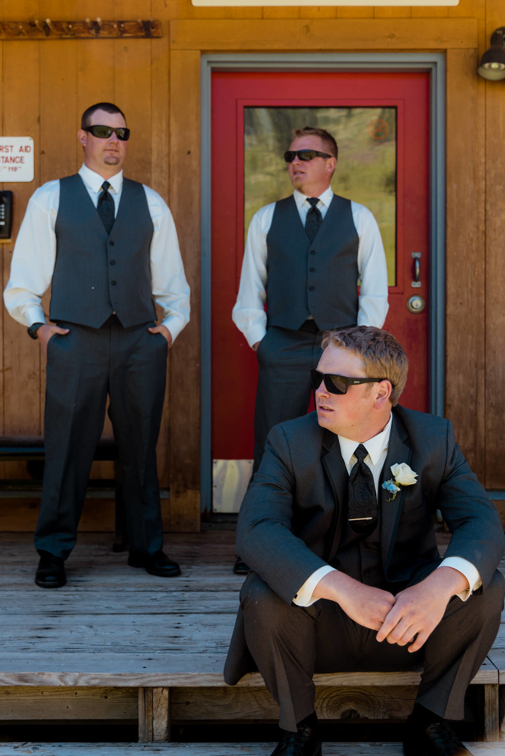 Zilla Photography Wild Adventure Mountain Wedding Groomsmen