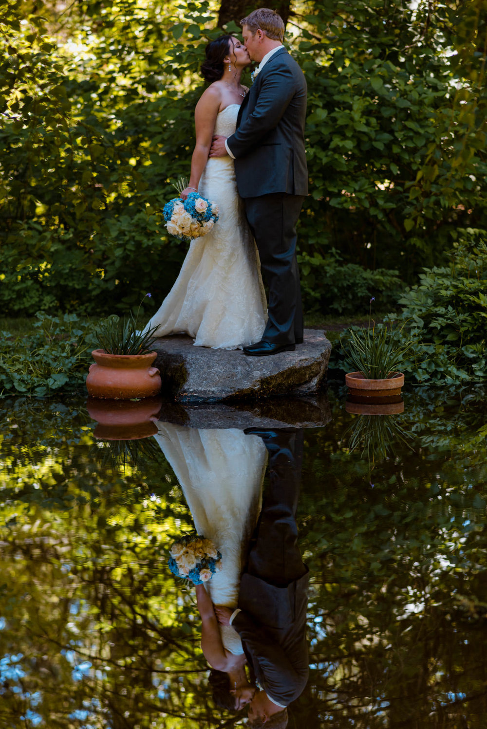 Zilla Photography Wild Adventure Mountain Wedding Reflection