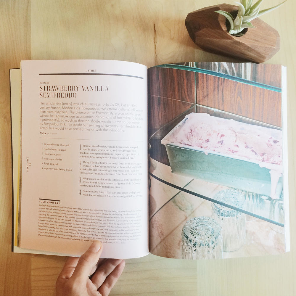 """Gather """"Spectrum"""" Edition - Strawberry Vanilla Semifreddo Recipe (pictured above)"""